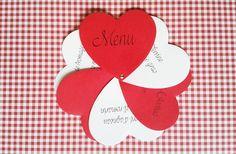 Menu mariage coeurs original et personnalisable : Faire-part par joli-coeur-creation