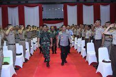 Pesan Kapolri Kepada Capaja TNI-Polri di Mabes TNI Cilangkap