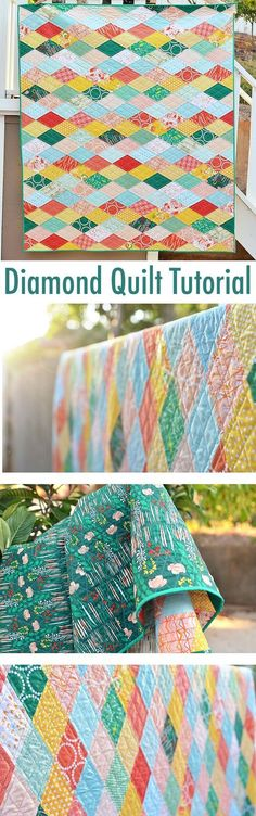 Diamond Quilt Tutorial #quilt #quilttutorial