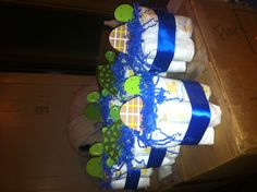 Turtle baby shower centerpieces