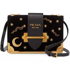 Black Tessuto nylon Prada clutch with gold-tone hardware, pleat accents at exterior, black logo jacquard lining and zip closure at top. Shop authentic designer handbags by Prada at The RealReal. Prada Purses, Prada Handbags, Handbags On Sale, Purses And Handbags, Prada Clutch, Popular Handbags, Blue Handbags, Handbags Online, Luxury Bags