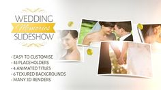 Wedding Memories Slideshow  • After Effects Template • See it in action ➝ https://videohive.net/item/wedding-memories-slideshow/7136018?ref=pxcr