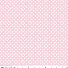 Small Dot Fabric  Baby Pink Small Dots by by SouthernStichesShop, $4.95.  Free Shipping over $50!