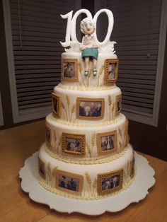 Great Picture of Grandma Birthday Cake . Grandma Birthday Cake Kiddles N Bits Birthday Cak Grandma Birthday Cakes, Grandma Cake, 90th Birthday Cakes, 90th Birthday Parties, Birthday Ideas, Edible Photo Cake, Birthday Cake With Photo, Party Cakes, Cake Decorating Tutorials