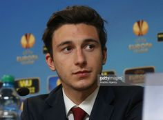 Torino's defender Matteo Darmian attends a press conference at Petrovsky Stadium on March 11, 2015 in Saint Petersburg, Russia. Torino will face Zenit St. Petersburg in the round of 16 Europa League match on March 11, 2015.