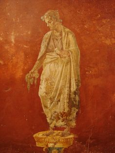 Detail of fresco found in the House of the Triclinia in Moregine, south of Pompeii, 1st century AD  - Wikimedia Commons
