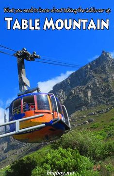Table Mountain is the top attraction in Cape Town. I've hiked it several times and have also taken the cable car. This post covers everything you need to know about taking the Cable Car up Table Mountain. #bbqboy #Tablemountain #Capetown #Southafrica #travel