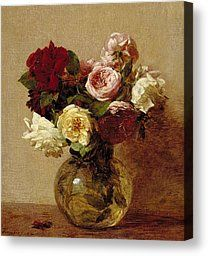 Roses Painting by Ignace Henri Jean Fantin-Latour - Roses Fine Art Prints and Posters for Sale