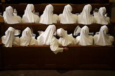 Nuns sit in their pews while waiting for Pope Francis to arrive inside the Basilica of the National Shrine of the Immaculate Conception Wednesday, Sept. 23, 2015, in Washington. (AP Photo/David Goldman) Photo: David Goldman, Associated Press