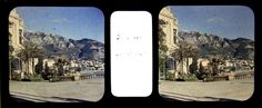 MONACO MONTE CARLO Autochrome Lumière stéréo 45x107mm, vers 1920   Collections, Photographies, Anciennes (avant 1900)   eBay!
