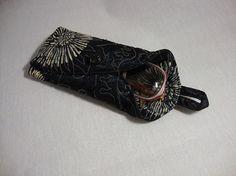 Purse Pencil Case Handbag Kit Textile Case Camera Cover Glasses Protector Phone Pouche Black Universal Button up Soft Silk Quilt