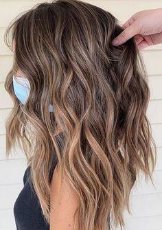 Brown Hair With Blonde Highlights, Brown Hair Balayage, Hair Color Balayage, Hair Highlights, Blonde Brunette Hair, Brown Hair With Blonde Balayage, Bronde Balayage, Hair Color And Cut, Hair Color For Spring