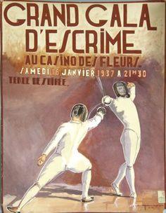 Vintage fencing poster