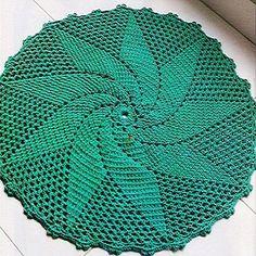 O esquema de tricô tapete de crochê
