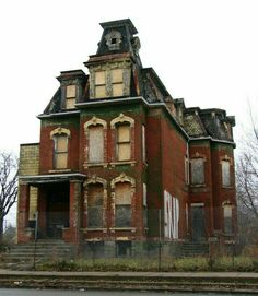 """Abandoned Victorian  Trumbull Avenue, Detroit. """"Abandoned, Ruins, Once Beautiful....."""""""