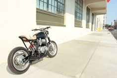 Tim Harney's 1979 Honda CB650. Kind of a retro streetfighter. Cool concept.