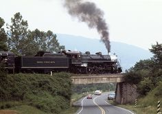southern steam engine | Southern Railway steam engine 4501 on bridge near Front Royal, VA