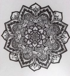I inverted this one, it's my favourite mandala