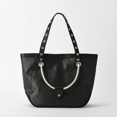PVC Coated Cotton × Leather Double Handle Studs Tote (Stads Type) | PRODUCTS | CARNET カルネ