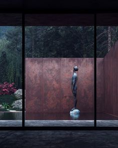 Rose House by Sergey Makhno Studio Rose is a guesthouse made of concrete, weathering steel, glass and water. The steel exterior seems private and fully immersed in the wild nature, whilst the inner... Hotel Lobby, Landscape Design, Garden Design, Landscape Architecture, Rose House, Weathering Steel, Lisa Thomas, Corten Steel, Minimalist Decor