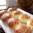 "Burger or Hot Dog Buns by Allrecipes. ""This recipe can be used to make either hamburger buns or hot dog buns. My husband says they are 'top of the line.' Nice and soft. Homemade Hamburger Buns, Homemade Hamburgers, Homemade Buns, Hamburger Bun Recipe, Bread Machine Recipes, Bread Recipes, Cooking Recipes, Cooking Videos, Bread Bun"
