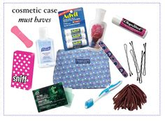 every thing you need in your cosmetics case to get you through the day