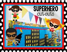 Multicultural Superhero Cut-Outs