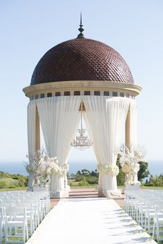 A beautiful day for a wedding at the Resort at Pelican Hill.