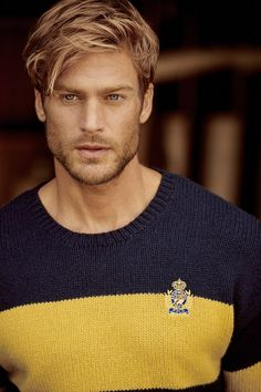 Ralph Lauren enlists model Jason Morgan as the star of its fallwinter 2019 campaign. Venturing outdoors Jason embraces all American style. Posing for the lens of photographer Matthew Brookes Jason wears looks styled by Deborah Blonde Male Models, Blonde Model, Beautiful Men Faces, Gorgeous Men, Most Beautiful Man, Beautiful Pictures, Beard Styles, Hair Styles, Redhead Men