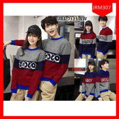 Fashion Sweater Couple Exo Colour Terlaris