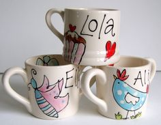 Girls Hand Painted 'My First Mug'