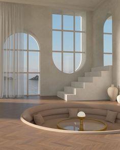 Dream House Interior, Dream Home Design, Future House, Homes Of The Future, Retro Interior Design, Aesthetic Rooms, Dream Rooms, House Rooms, Interior Architecture