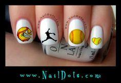 Softball Nail Art