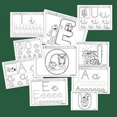 Fitxes per treballar les vocals (castellà) Speech Language Pathology, Speech And Language, Language Arts, Spanish Lessons, Teaching Spanish, Speech Therapy, Homeschool, 1, Classroom