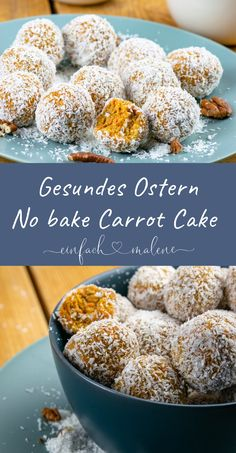 Juicy Carrot Cake Energy Balls – Healthy Easter for the Whole Family – *Ostern – Saisonale Rezepte* – Healthy Snacks Easter Snacks, Easter Recipes, Baked Carrots, Snacks Sains, Energy Balls, Savoury Cake, Healthy Baking, Carrot Cake, Clean Eating Snacks