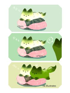 Matcha Fox. Decided to move this comic strip here instead of my illustration blog. So indecisive OTL.