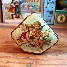 Antique miniature tin box from Germany