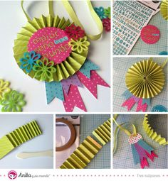 Crafts for sale Kids Crafts, Diy And Crafts, Arts And Crafts, Paper Rosettes, Paper Flowers, Mini Album Scrapbook, 3d Templates, Diy Y Manualidades, Painted Rocks Kids