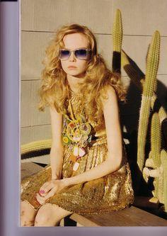 Desert Rose  Vogue UK May 2008  Styled by Kate Phelan  Model Siri Tollerod