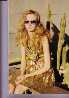 Desert Rose  Vogue UK May 2008  Styled by Kate Phelan  Model Siri Tollerod