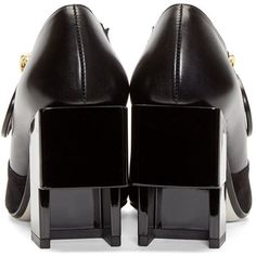 Loewe Black Leather Empty Double Cube Shoes