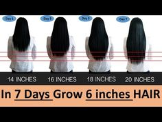 GROW 6 Inches STRONG SMOOTH HAIR in 7 DAYS FAST! - YouTube