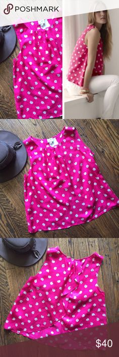 Gorgeous Antropologie top Beautiful Anthropologie top by 9-h15 stlc. Hot pink with little snails all over. Open back.  Size 4/36. In excellent condition. 100% silk. Anthropologie Tops