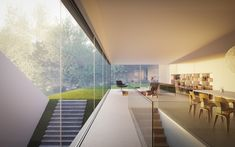 Remarkable White Modern Mansion-House Hafner by Hornung and Jacobi Architecture in Germany Residential Architecture, Interior Architecture, Interior And Exterior, Interior Design, Exterior Doors, Entry Doors, Architecture Details, Futuristisches Design, House Design