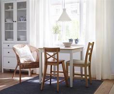 LERHAMN. Table, light antique stain, white stain