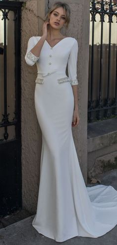 Dovita Bridal 2017 Wedding Dress _ Going Away Dress 2nd Wedding Dresses, 2017 Wedding, Bridal Dresses, Wedding Styles, Wedding Ideas, Vintage Bridal, Party Gowns, Modest Outfits, Dream Dress