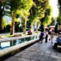 Fresca mattina al Parco termale di Caramanico Terme