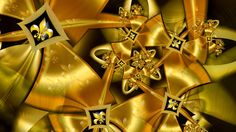 Golden Ribbon Spiral with Fleur-de-Lis by wolfepaw on DeviantArt
