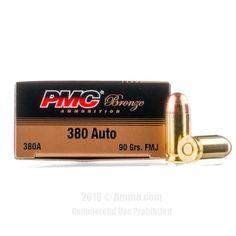 PMC 380 ACP Ammo - 1000 Rounds of 90 Grain FMJ Ammunition #PMC #PMCAmmo #380AutoAmmo #380ACP #FMJ
