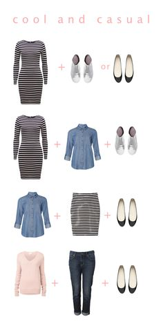 Here are the casual looks we are using over on Chasing Cait today to create a capsule wardrobe.  Click the image to go to the blog for more details and to see more outfits